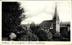 Postcard Nordhausen an der Zorge Thüringen, Jakobikirche, Primariusgraben