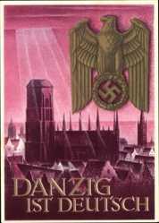 Ganzsachen Ak Klein, Gottfried, Danzig ist Deutsch, Reichsadler, WHW