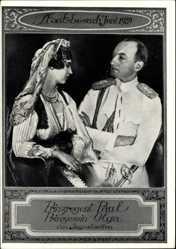 Postcard Prinzregent Paul, Prinzessin Olga von Jugoslawien, Staatsbesuch Juni 1939