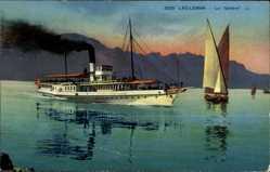 Ak Lac Leman Schweiz, Salondampfer Geneve auf dem Genfer See