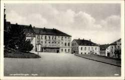 Postcard Pockau Lengefeld im Erzgebirge, Hotel zur Post am Markt