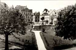 Postcard Pockau Lengefeld im Erzgebirge, Parkanlage am Markt