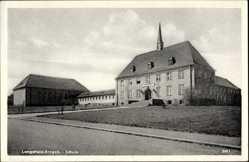 Postcard Pockau Lengefeld im Erzgebirge, Blick auf die Schule