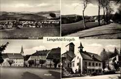 Postcard Pockau Lengefeld im Erzgebirge, Siedlung, Waldesruh, Kalkwerk