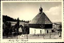 Postcard Mauersberg Großrückerswalde im Erzgebirge, Die Kreuzkapelle