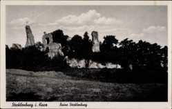 Ak Stecklenburg Thale im Harz, Teilansicht der Ruine Stecklenburg