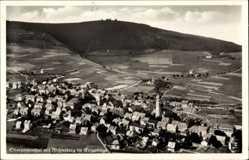 Postcard Oberwiesenthal im Erzgebirge, Totalansicht mit Fichtelberg, Fliegeraufnahme