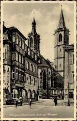 Postcard Villingen Schwenningen im Schwarzwald, Gasthaus zum Raben, Münster