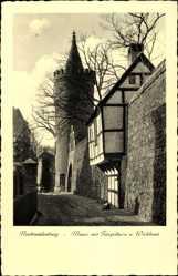 Postcard Neubrandenburg in Mecklenburg Vorpommern, Mauer, Fangelturm, Wiekhaus