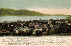 Postcard Tegernsee im Kreis Miesbach Oberbayern, Blick auf Ort und Umgebung