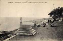 Postcard Algier Alger Algerien, Notre Dame d'Afrique, Le Monument aux Morts de la Mer