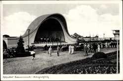 Ak Świnoujście Swinemünde Pommern, Ostseebad, Konzertplatz, Bühne