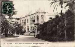 Ak Algier Alger Algerien, Palais d'Étai du Gouverneur à Mustapha Supérieur