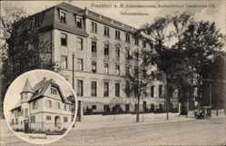 Postcard Frankfurt am Main, Diakonissenhaus, Eschersheimer Landstraße 12, Pfarrhaus
