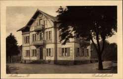 Postcard Müllheim im Kreis Breisgau Hochschwarzwald, Blick auf Bahnhofhotel, Grether