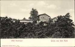 Ak Thale im Harz, Teilansicht des Hôtels Rosstrappe
