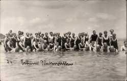 Foto Ak Ostseebad Sellin auf Rügen, Badegäste im Wasser, Selliner Wasserratten