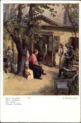 Künstler Ak Straka, Josef, Beim Künstler, Bildhauer, Chez l'artiste