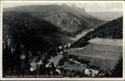Postcard Kudowa Zdrój Bad Kudowa Schlesien, Rabenkoppe, Dörnikauer Schlucht