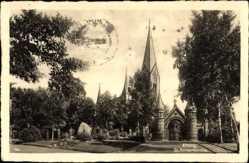 Ak Elbląg Elbing Ostpreußen, Partie an der Sankt Annenkirche