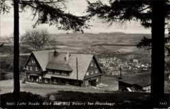 Postcard Duszniki Zdrój Bad Reinerz Schlesien, Stille Liebe Baude, Heuscheuer