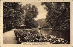 Postcard Bydgoszcz Bromberg Westpreußen, Kanal IV, Schleuse