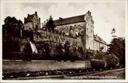 Ak Georgenburg Insterburg Ostpreußen, Partie am Schloss