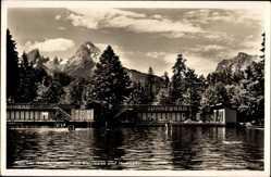 Postcard Aschauerweiher Bischofswiesen, Watzmann, Hochkalter, Sonnenbad