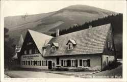 Postcard Karpacz Krummhübel Riesengebirge Schlesien, Gasthof Gerichtskretscham