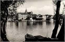 Postcard Wolin Wollin Pommern, Blick übers Wasser auf die Ortschaft