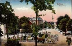 Postcard Wollstein Poznań Posen, Blick in die Königsstraße, Kutschen