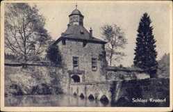 Postcard Friesenhagen Westerwald, Blick auf das Schloss Krottorf, Brücke, Gewässer