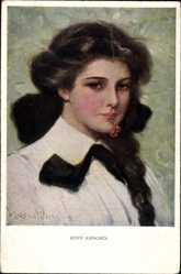 Künstler Ak Harper, Clarence, Reife Kirchen, Portrait einer jungen Frau,Munk 832