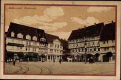 Ak Halberstadt in Sachsen Anhalt, Marktplatz, Krüger a. Oberbeck, Pferdekutsche