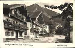 Postcard Marquartstein im Kreis Traunstein Oberbayern, Blick in die Dorfstraße