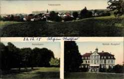 Postcard Burgdorf Landkreis Wolfenbüttel, Totale, Schlosspark, Schloss