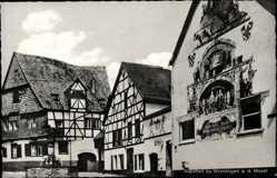 Postcard Winningen an der Mosel, Weinhexenhaus mit Weinbrunnen
