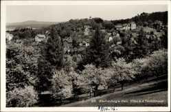 Postcard Blankenburg am Harz, Blick auf die Villen an der Teufelsmauer