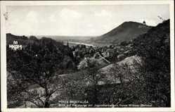 Postcard Porta Westfalica in Nordrhein Westfalen, Blick auf Hausberge,Jugendherberge