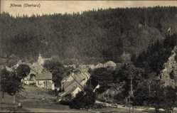Postcard Altenau im Oberharz, Ortschaft am Waldrand gelegen