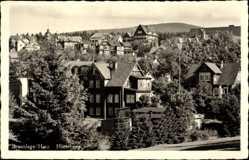 Postcard Braunlage im Oberharz, Blick auf Haus Hütteberg mit Umgebung