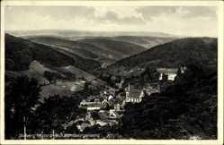 Ak Stolberg Südharz, Blick vom Georgenberg auf den Ort, Wald, Kirche