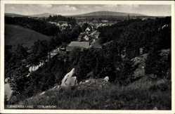 Ak Elbingerode Oberharz am Brocken, Totalansicht der Ortschaft