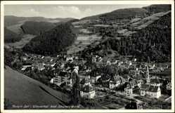 Postcard Zell im Wiesental Kreis Lörrach Baden Württemberg, Totalansicht vom Ort