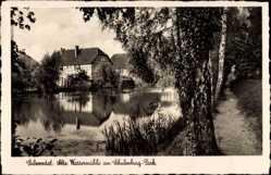 Ak Salzwedel in der Altmark, Alte Wassermühle am Schulenburgpark