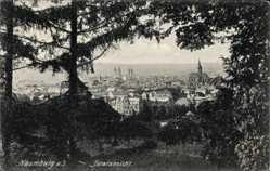 Postcard Naumburg an der Saale, Totalansicht des Ortes, Kirche