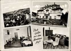 Postcard Herrstein Nahe, Herrsteiner Hof, Irene Schell, Innenansicht, Ort