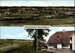 Postcard Remetschwiel Weilheim Baden, VIVO Geschäft, Panorama der Ortschaft