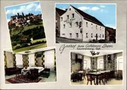 Postcard Leuchtenberg Oberpfalz, Gasthof zum Goldenen Löwen, Bes. Hartwig