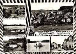 Postcard Freilingen Westerwald, Seenplatte, Düsseldorfer Hof, Seenplatte
